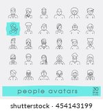 set of people faces avatars.... | Shutterstock .eps vector #454143199