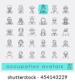 set of avatar icons. collection ... | Shutterstock .eps vector #454143229