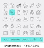 set of shopping icons. various... | Shutterstock .eps vector #454143241