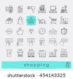 set of shopping icons. premium... | Shutterstock .eps vector #454143325