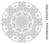 mandala flower decoration ... | Shutterstock .eps vector #454147465