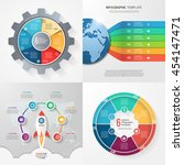 four infographic templates with ... | Shutterstock .eps vector #454147471