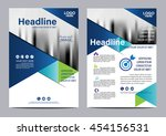 blue brochure layout design... | Shutterstock .eps vector #454156531