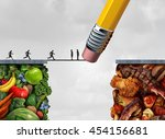 control food temptation concept ...   Shutterstock . vector #454156681