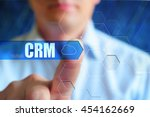 crm title frame. businessman... | Shutterstock . vector #454162669