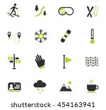 skiing web icons for user... | Shutterstock .eps vector #454163941