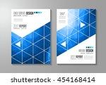 brochure template  flyer design ... | Shutterstock . vector #454168414