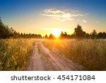 Summer Rural Landscape With ...