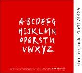 alphabet   number   handwriting ...   Shutterstock .eps vector #454174429