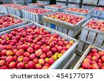 wooden crates full of ripe... | Shutterstock . vector #454177075