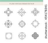 set line vintage vector design  ...   Shutterstock .eps vector #454178341