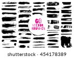 60 different grunge vector... | Shutterstock .eps vector #454178389