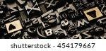 historical letterpress types ... | Shutterstock . vector #454179667