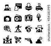 mass media    news icon set | Shutterstock .eps vector #454181995