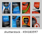 vector brochure flyer booklet... | Shutterstock .eps vector #454183597