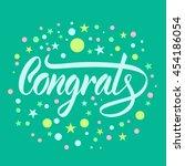 vector illustration. greeting... | Shutterstock .eps vector #454186054