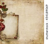 vintage background with old... | Shutterstock . vector #454189069