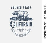 california golden state  a... | Shutterstock .eps vector #454189441