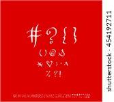 alphabet   number   handwriting ... | Shutterstock .eps vector #454192711