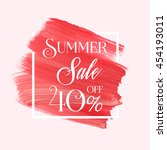 summer sale 40  off sign over... | Shutterstock .eps vector #454193011