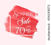 summer sale 70  off sign over... | Shutterstock .eps vector #454193071