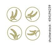 elegant rice vector of the... | Shutterstock .eps vector #454194259