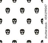 seamless pattern  skull art ... | Shutterstock .eps vector #454199047