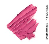 pink color lipstick stroke on... | Shutterstock . vector #454204831