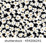 vector white little daisy on a... | Shutterstock .eps vector #454206241