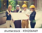 business team construction... | Shutterstock . vector #454206469