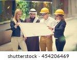 business team construction... | Shutterstock . vector #454206469