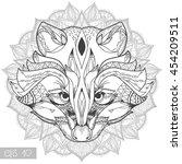 zentangle stylized doodle... | Shutterstock .eps vector #454209511