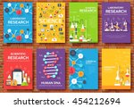 science information cards set.... | Shutterstock .eps vector #454212694