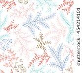 soft vector seamless pattern... | Shutterstock .eps vector #454214101