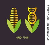genetically modified organisms... | Shutterstock .eps vector #454223611