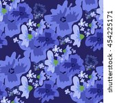 vector ditsy pattern with... | Shutterstock .eps vector #454225171