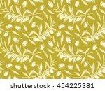 olives vintage pattern. olive... | Shutterstock .eps vector #454225381