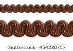 chocolate whipped cream  vector ... | Shutterstock .eps vector #454230757