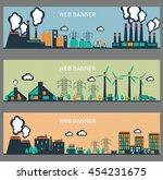 set of industrial factory... | Shutterstock .eps vector #454231675