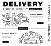 modern delivery industry pack.... | Shutterstock .eps vector #454232191