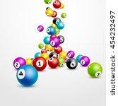 bingo lottery balls numbers... | Shutterstock .eps vector #454232497