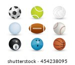 collection of sport balls... | Shutterstock .eps vector #454238095