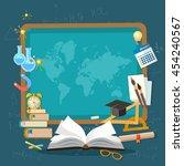 education background... | Shutterstock .eps vector #454240567