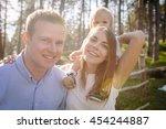 portrait of young beautiful... | Shutterstock . vector #454244887