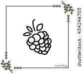 web line icon. raspberries   Shutterstock .eps vector #454246705