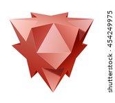 vector complex geometric shape... | Shutterstock .eps vector #454249975