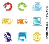 a set of nine web icons. | Shutterstock .eps vector #45425041