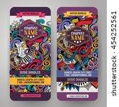 cartoon colorful vector hand... | Shutterstock .eps vector #454252561