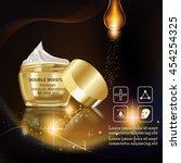 double moisture cream  improves ... | Shutterstock .eps vector #454254325