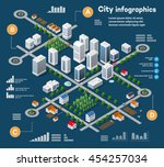 3d city isometric three... | Shutterstock .eps vector #454257034